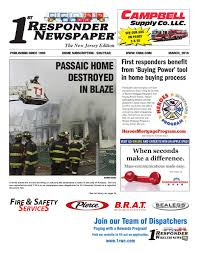 1st responder newspaper new jersey march edition by belsito