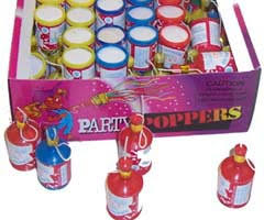 party poppers chagne confetti party poppers z novelties