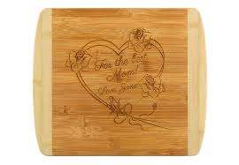 personalized cutting board personalized cutting board heart and roses theme for