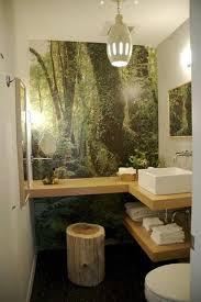 tropical bathroom ideas tropical bathroom banana leaf wallpaper decor small bathroom