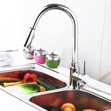 faucets for kitchen sinks chrome kitchen swivel spout single handle sink faucet pull down