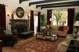 amusing colonial spanish home interior design with black arched