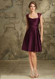 purple dresses for weddings knee length buy strapless cap sleeves purple zipper satin ruched knee