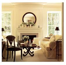 round mirror over with sunburst mirror dining room traditional and