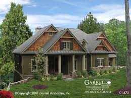 cabin house plan front elevation craftsman style plans house