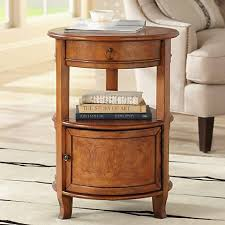 Wood Accent Table Kendall Cherry Round Accent Table W2879 Lamps Plus