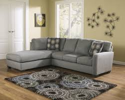 Ashley Furniture Sofa Ashley Furniture Zella Microfiber Sofa Sectional In Charcoal