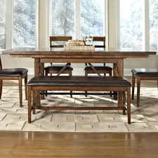 intercon santa clara trestle dining table with self storing leaf