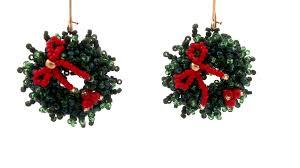 beading4perfectionists christmas wreath earrings beading
