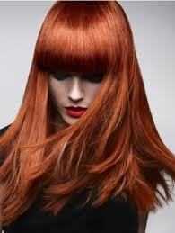 straight red hair color as trend hairstyle for women copper red