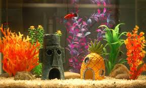 cofa 2 pcs plastic purple artificial fish tank aquarium