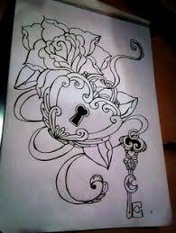 Locket Tattoo Ideas Antique Lock And Key Tattoo Lock Key Tattoo 27 Affectionate