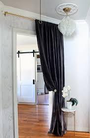 Hallway Door Curtains Hallway Makeover Chandeliers Doors And Wallpaper