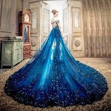 blue wedding dress goddess dress 20 new the shoulder wedding dresses