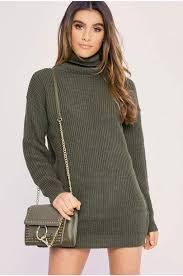 curve charlotte crosby grey roll neck oversized knitted jumper