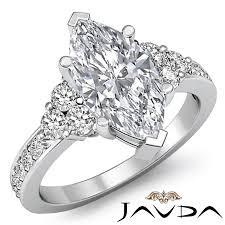 marquise diamond engagement rings 3 stone marquise diamond stunning engagement ring egl f si1