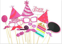 1set Happy Birthday Party Props Boy Baby Shower Photo Booth