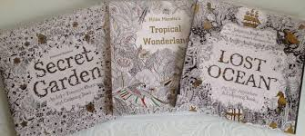 johanna basford colouring books secret garden tropical wonderland