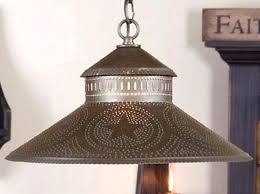 Tin Ceiling Lights Ideas Punched Tin Ceiling Light Fixture And Handmade Primitive