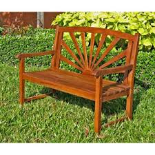 Wood Outdoor Bench Outdoor And Patio Furniture Bellacor
