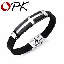 aliexpress buy new arrival cool charm vintage opk fashion vintage men jewelry bracelets cross design silicone