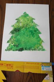 christmas tree stencil art i can teach my child
