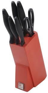 laser kitchen knives richardson sheffield laser cuisine 6 piece block set red amazon