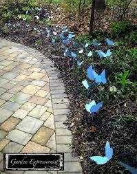 Sheet Metal Garden Art - butterflies in the grass backyard butterfly and garden art
