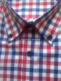 online shop 100 cotton blue red white gingham dress shirts custom
