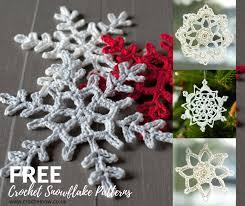 crochet snowflake patterns gorgeous tree decorations crochet now