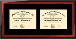 degree frames buy horizontal certificate dual diploma frame single black