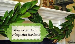 magnolia leaf garland s how to make a garland with magnolia leaves