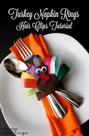 turkey napkin rings and turkey hair tutorial gun ramblings