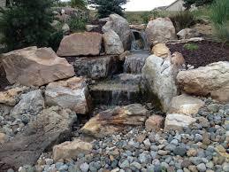 backyard waterfall pictures urellas irrigation landscaping llc