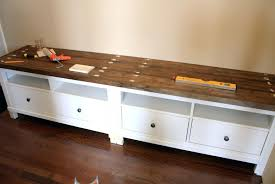Cushioned Storage Bench Interesting How To Make Storage Bench Ikea With Drawers And Black