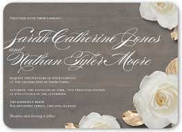 wedding invitations shutterfly flowering fondness 5x7 wedding card wedding invitations shutterfly