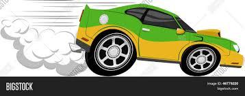 cartoon sports car fast car cartoon vector u0026 photo bigstock