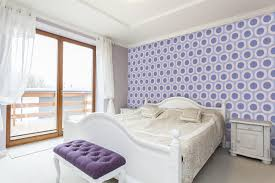 Purple Accent Wall by Our Modern Custom Wallpaper Makes Accent Walls So Much More Fun