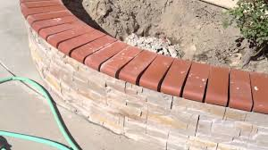 backyard stone and brick cap work youtube