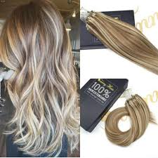 pre bonded hair extensions reviews micro loop hair extensions human hair light brown highlight