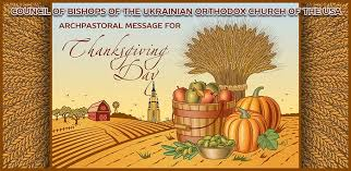 blessed thanksgiving from the council of bishops of the ukrainian