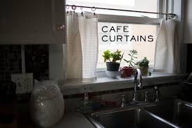 kitchen cafe curtains ideas furniture appealing white transparent cafe curtains with potted