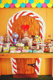 Candy Party Table Decorations Hansel U0026 Gretel Candy Themed Twin U0027s Birthday Party Birthdays