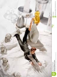 funny wedding cake figurines stock image image 13726441