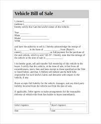 bill of sale template car sle automobile bill of sale