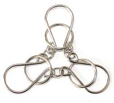 metal wire rings images Classic 3 rings horseshoe metal iron wire puzzle brain teaser jpg