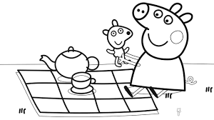 peppa pig coloring pages a4 coloring book page bookmontenegro me