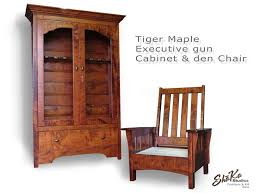 tiger maple wood kitchen cabinets crafted tiger maple executive gun cabinet and den chair