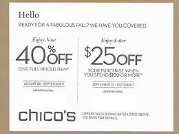 chicos coupon chico s coupon 25 purchase of 100 picclick