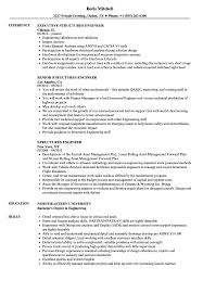 exle of a resume format structures engineer resume sles velvet